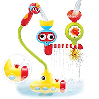 Yookidoo Bath Toy - Submarine Spray Station - Battery Operated Water Pump with Hand Shower, Googly Eyes Water Spinner - Many Ways to Play (Age 2-6 Years)