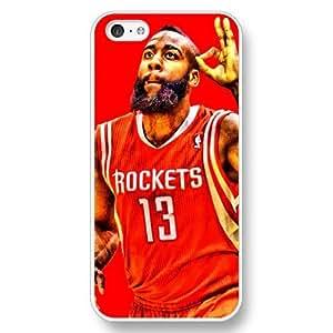 Onelee (TM) - Customized Personalized White Hard Plastic iPhone 5C Case, NBA Superstar Houston Rockets James Harden iPhone 5C case, Only Fit iPhone 5C Case