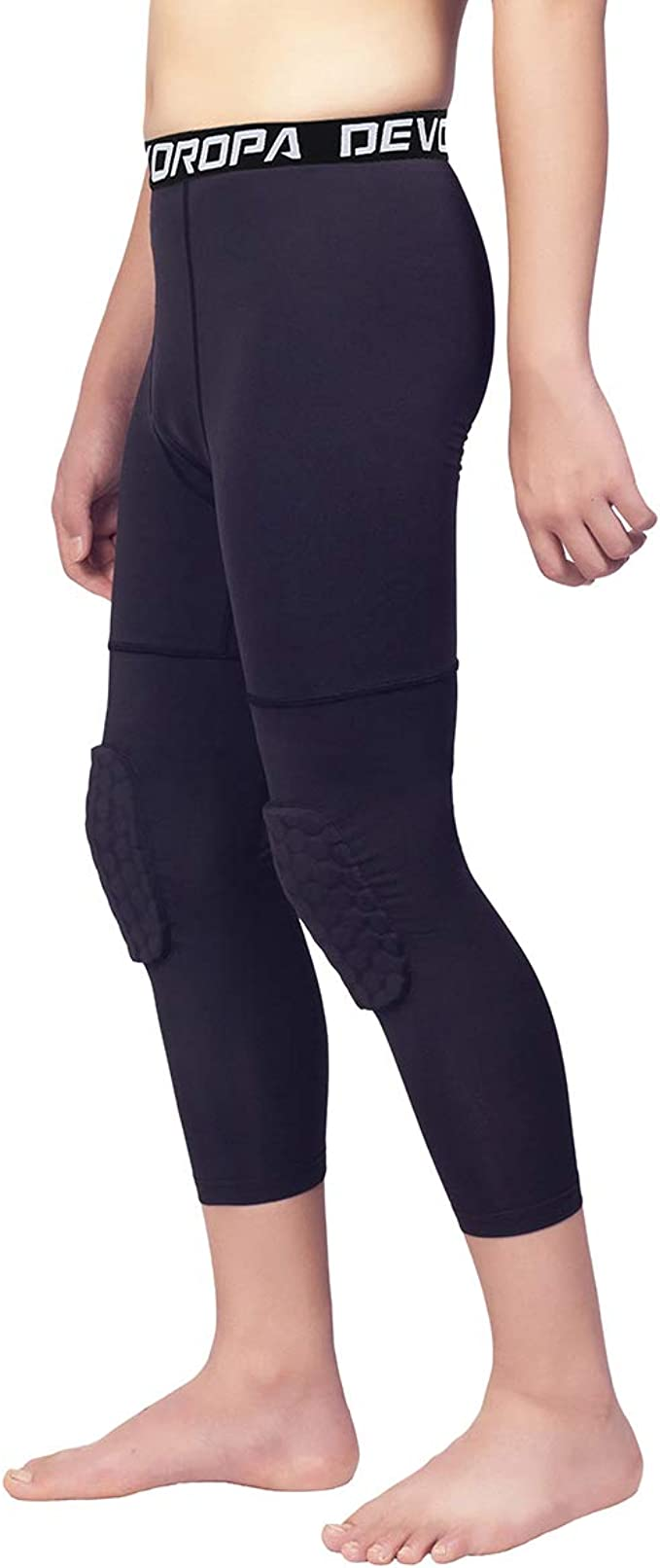 Breathable Sports Leggings Basketball Pantyhose Heencom Compression and Quick-Drying for Boys and Girls
