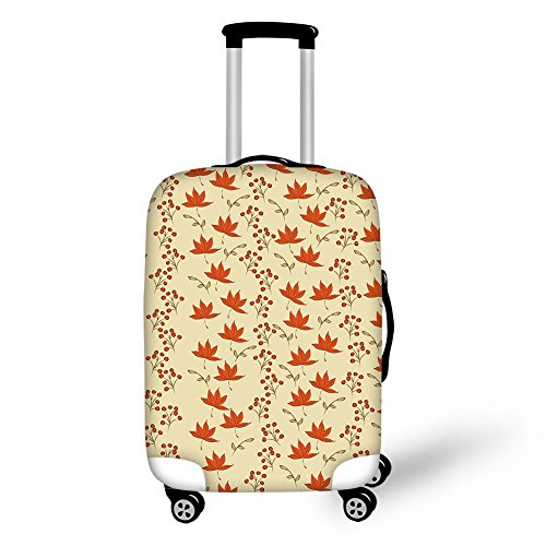 Coloranimal Maple Leaves Printed Luggage Suitcase Apply to 26-30 Inch Covers For Sale