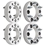 "DCVAMOUS 4pc 6 Lug 6x5.5 Wheel Spacers 1.5"" with 12x1.5 Studs for Toyota 4Runner Tundra FJ Cruiser Tacoma, 2004-2012 Chevy Colorado,Isuzu Pickups"