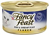 Fancy Feast Gourmet Cat Food, Flaked Fish and Shrimp Feast, Flaked 3-Ounce Cans (Pack of 24), My Pet Supplies