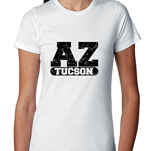 (Hollywood Thread Tucson, Arizona AZ Classic City State Sign Women's Cotton)