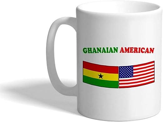 Ghana Flag Ceramic Mug 11oz Mug Great Novelty Mug.