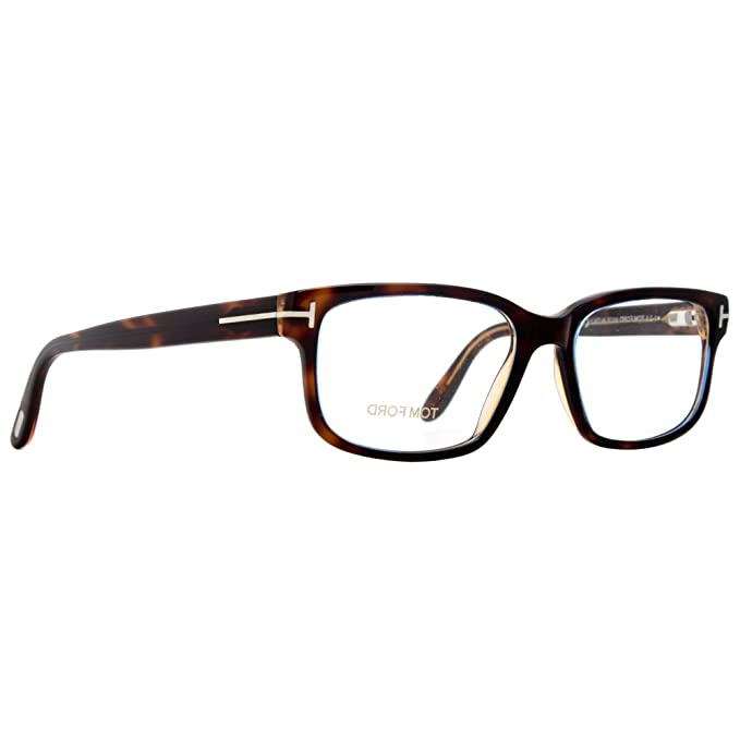 Tom Ford FT5313 Eyeglasses 55 055 Coloured Havana at Amazon Men\'s ...