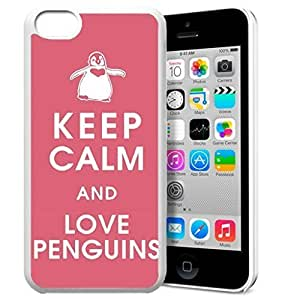 diy phone caseKeep Calm and Love Penguins Pattern HD Durable Hard Plastic Case Cover for iphone 5/5s Design By GXFC Casediy phone case
