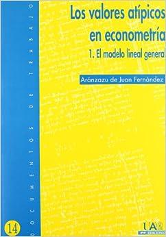 Book Los valores atípicos en econometría : el modelo lineal general