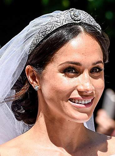 Amazon Com Crystal Rhinestone Wedding Crown Tiara Meghan Markle Bridal Tiara Handmade