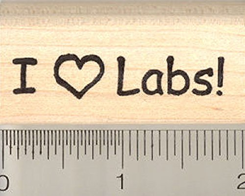 Lab Rubber Stamp - I Heart Labs Rubber Stamp, Labrador Retriever Dog