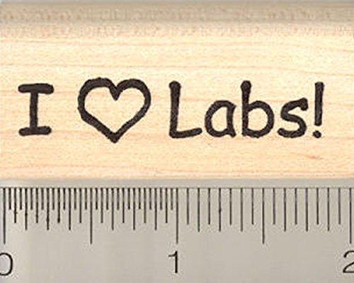I Heart Labs Rubber Stamp, Labrador Retriever Dog