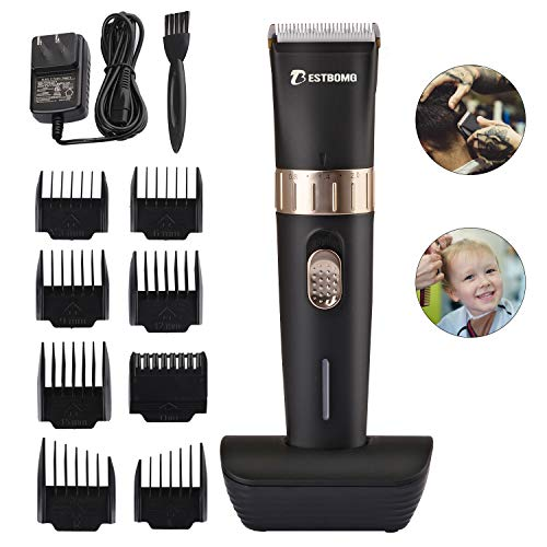 BESTBOMG Cordless Hair Clipper Kit for Men