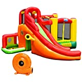 Costzon Inflatable Bounce House, 11 in 1 Mighty Kids Jump and Slide Castle