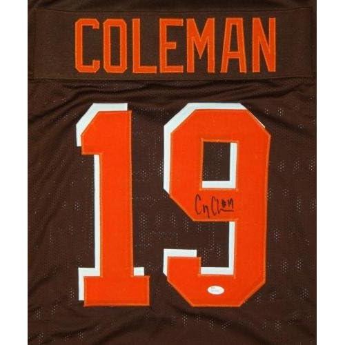 buy online 7465c c97bb low-cost Corey Coleman Autographed Jersey - Brown Pro Style ...