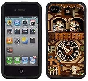 Cuckoo Clock Handmade iPhone 4 4S Black Case