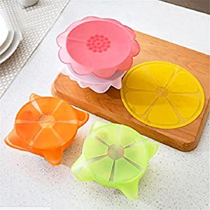 1PC Reusable Silicone Food Wrap Seal Vacuum Lid Stretch Multifunctional Food Fresh Keeping Bowl Wrap Kitchen Tool