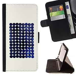 For Samsung Galaxy J1 J100 Case , Blueberry espacio minimalista a cuadros- la tarjeta de Crédito Slots PU Funda de cuero Monedero caso cubierta de piel