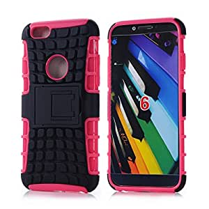 Stealth Series Apple iPhone 6 (4.7 Inch) Black Shell Holster Armor Protector Cover Case Tri-Layer Shock Absorbing Rigid Hybrid Dual Kickstand with Locking Swivel Belt Clip (Pink Holster Combo)and simple high-end business detachable key gifts
