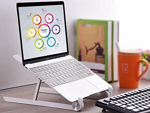 Laptop Stand - JUBOR Adjustable Laptop Stand Portable Foldable Ergonomic Desktop Stand Holder Mount for MacBook Notebook Computer PC iPad Tablet