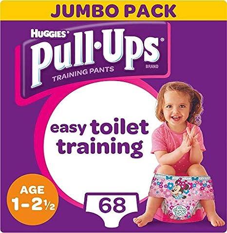 68 Pants 1-2.5 Years, Huggies Pull-Ups Girls Potty Training Pants