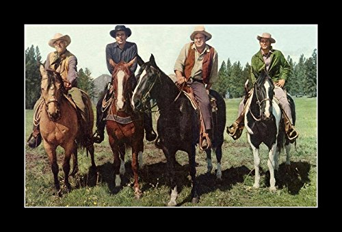 8 x 10 All Wood Framed Photo On Horseback Bonanza-The-Cartwright's by Celebrity Framed Art (Image #2)