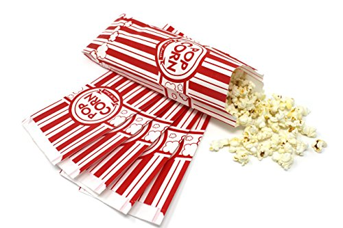 2-oz Popcorn Bags (Pack of 75) - Classic Disposable Toxic-Free Paper Bags for Movie Night, Cinema or Other Event - Fresh Popcorn Served Warm   Food-Grade & Oil-Proof