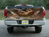 T77 DEER HUNTING BUCK TAILGATE WRAP Vinyl Graphic Decal Sticker F150 F250 F350 Ram Silverado Sierra Tundra Ranger Frontier Titan Tacoma 1500 2500 3500 Bed Cover tint image