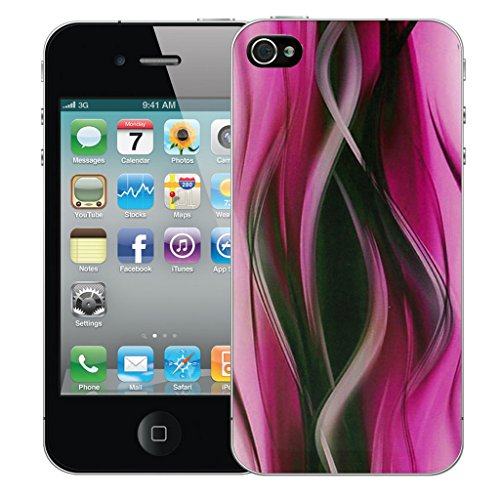 Mobile Case Mate iPhone 4 Silicone Coque couverture case cover Pare-chocs + STYLET - Pink Twisted pattern (SILICON)