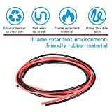 iFlight 12AWG Silicone Wire 13 Feet [6.5 ft Black And 6.5 ft Red] High Temperature Resistant Soft and Flexible Silicone Wire Cable RC Drone Spare Parts (12 Gauge)