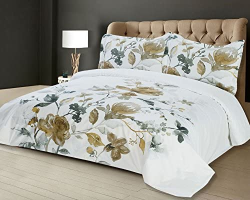 Sitara Amal 3piece Duvet Cover Set 100 Cotton Full Double Amazon Ca Home Kitchen