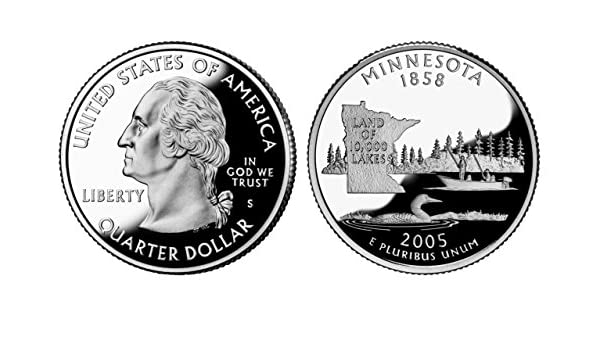 2005-S Minnesota Gem DCAM Silver Proof State Quarter Stunning Coin