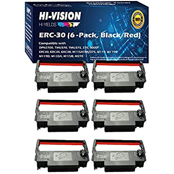 SNBC BTP-M280,BTP-M280A BTPM280 BTP-M280D BTP-M300 Black//Red Ribbons 6 Pack
