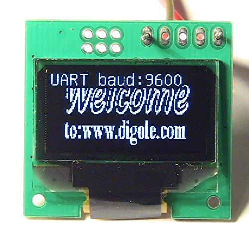 0.96 Serial: UART/I2C/SPI 128x64 OLED Module White CN (DS12864OLED-2W)