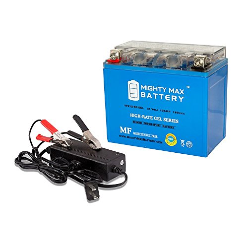 YTX12-BS GEL Replaces Honda VTR1000F SuperHawk 97-00 + 12V 2A Charger - Mighty Max Battery brand product
