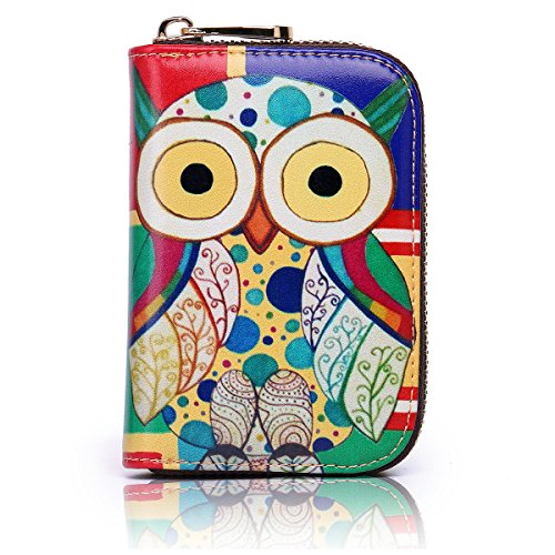 - APHISON RFID Credit Card Holder Wallets for Women Leather Cartoon Patterns Zipper Card Case for Ladies Girls/Gift Box 008
