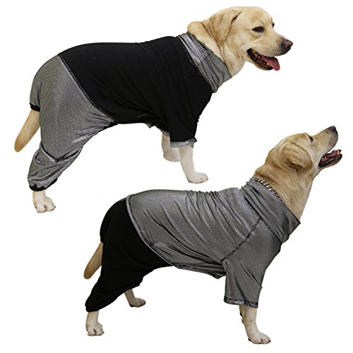 Big Dog Fleece (NACOCO Dog Jumpsuit Pet Jumper Heat Reflective Reversible Fleece Coat for Large Dog (XXXL))