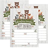 25 Cute Rustic Woodland Forest Animals Baby Shower Invitations...