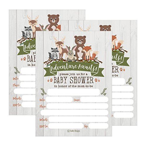25 Cute Rustic Woodland Forest Animals Baby Shower
