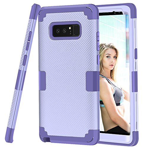 Galaxy Note 8 Case, GPROVA [Thin Fit] Heavy Duty Shockproof Anti-Scratch Protective Case Cover for Samsung Galaxy Note 8 (Lavender) (Samsung Galaxy Note 4 Speck Case)