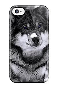 lintao diy For Iphone Case, High Quality Mysterious Wolf For Iphone 4/4s Cover Cases