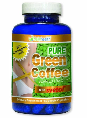 Green Coffee Bean Excerpt Pure 800mg with Svetol 60 capsules Weight Loss Appetite Suppressant Dietary Supplement