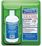 "PhysiciansCare 24-202 Wall Mountable Eye Flush Station with Single 32 oz Bottle, 11-3/4"" L x 4"" W x 13-3/4"" H"