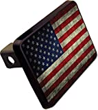 American Flag Trailer Hitch Cover Plug Funny State Novelty