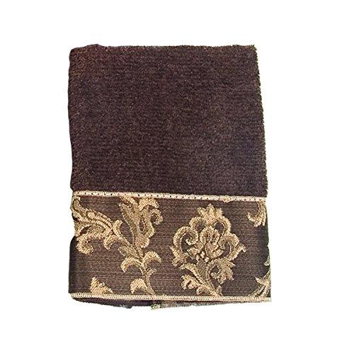 Damask Hand Towel - Avanti Linens Damask Fringe Hand Towel, Mocha