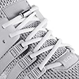 anan520 Elastic No Tie Shoe Laces For Adults,Kids,Elderly,System With Elastic Shoe Laces(2 Pairs), White, X-Large
