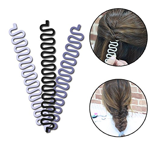 Magic Hair Braided Tool Women Fashion French Hair Styling Clip DIY French Hair Braiding Tool Hairstyle Braid Tool Twist Plait Hair Braiding Tool Bun or Pony Tail Hair Accessories 3 Pack - Magic Tool