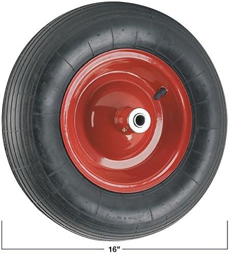"""85L METAL BLACK PAN HEAVY DUTY WHEELBARROW 85 LITRE 14/"""" RED PNEUMATIC WHEEL"""