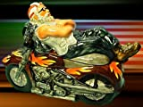 MOTORCYCLE COOKIE JAR- BIKER CHILLIN