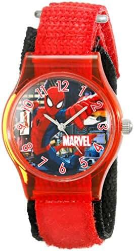 Marvel Kids' W001729 Spider-Man Analog Display Analog Quartz Red Watch