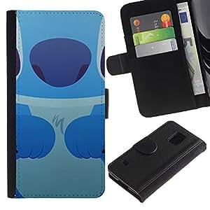 APlus Cases // Samsung Galaxy S5 V SM-G900 // Lindo monstruo dibujo animado carácter ratón Kid // Cuero PU Delgado caso Billetera cubierta Shell Armor Funda Case Cover Wallet Credit Card