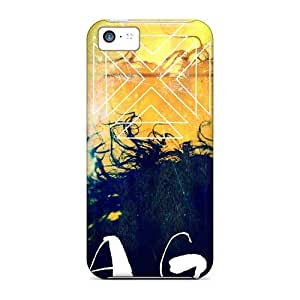 Shock Absorbent Cell-phone Hard Cover For Iphone 5c With Allow Personal Design Attractive Nirvana Skin AlissaDubois